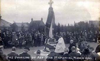 Unveiling of Ash War Memorial